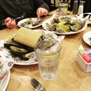Chargrilled oysters (mostly butter)