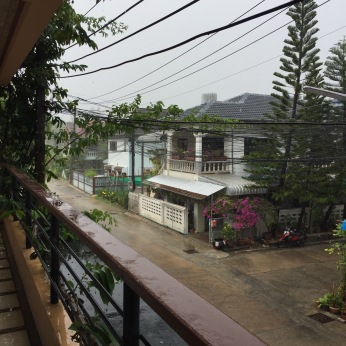 View from my balcony in the rain