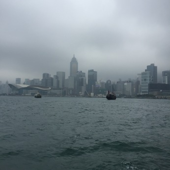 Hong Kong in the mist, from the ferry
